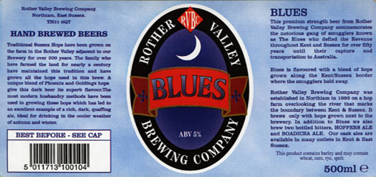 Rother Valley Brewing Company Bottled Blues