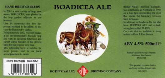 Rother Valley Brewing Company Bottled Boadicea Ale