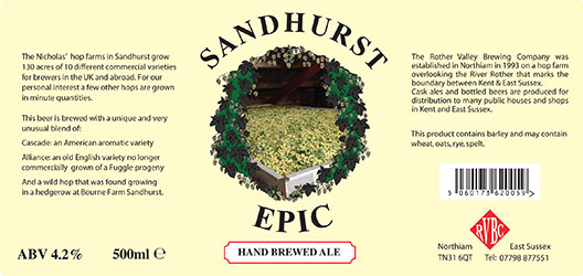 Rother Valley Brewing Company Bottled Sandhurst Epic