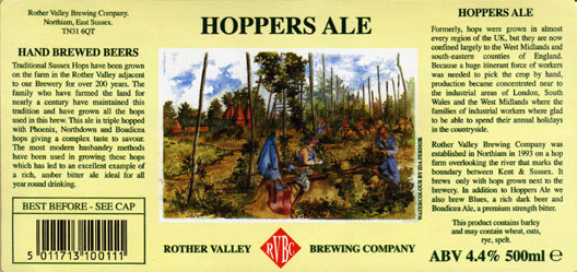 Rother Valley Brewing Company Bottled Hopper Ale