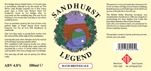 Rother Valley Brewing Company Bottled Sandhurst Legend