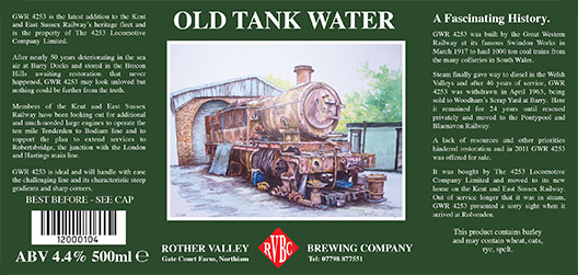 Rother Valley Brewing Company Bottled Old Tank Water