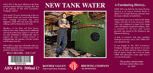 Rother Valley Brewing Company Bottled New Tank Water